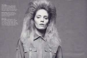 Big Hair For the Black and White Editorial 'Tough Love' in W Magazine