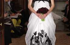 Gothic Floral Wedding Gowns - The Carolina Herrera Bridal Spring 2011 Line is Edgy