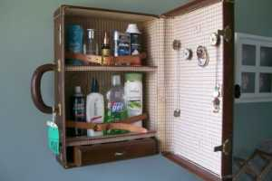 Reuse Old Travel Goods in Your Luxe Lavatory