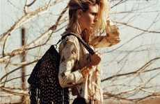 Hitch Hiking Cowgirl Fashion - The Natasa Vojnovic Vogue Spain Spread has Western Flair