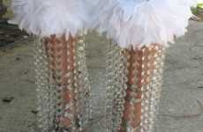 Chandelier Crystal Feather Jeans Keep Your Living Room Lit and Your Closet Cool