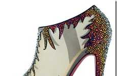 Bedazzled Rainbow Heels - The Christian Louboutin Fall Shoe Collection