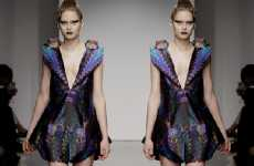 Prismatic Punk Fashions - The Belle Sauvage AW10 Collection is the Dark Side of the Rainbow