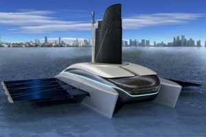 The Eco Compatible Catamaran Keeps the Blue Seas a Little More Green