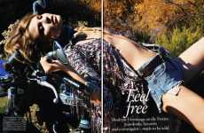 Damsels in Denim - 'Feel Free' in Vogue Germany is Easygoing