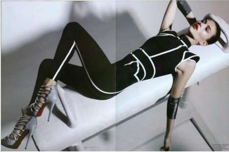 Androgynous Athletic Shoots - 'The Sporting Life' in Fashion Magazine April 2010 Editorial