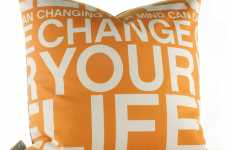 Positive Mantra Pillows - Inhabit 'Change Your Life in Sunshine' Sustainable-Chic Cushions