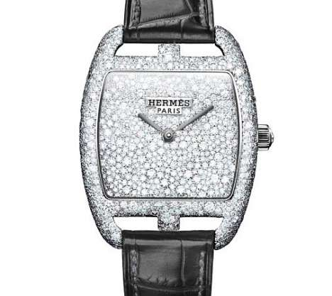 hermes diamond watch