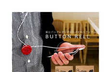 The Button Reel Keeps Your Headphones in Check