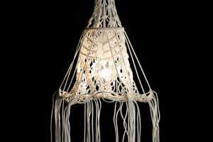 Smalltown's Intricate and Impressive Macrame Lampshades