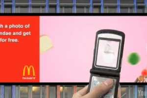 The McDonald's Billboard Game Has You Hunting for Food with Cell Phone