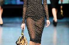 Sheer Polka Dot Dresses