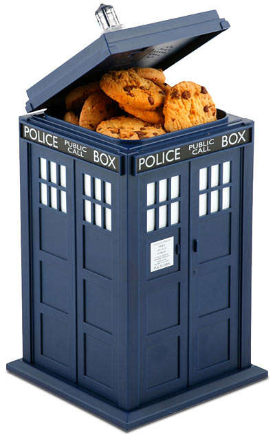 TARDIS Cookie Jar