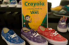 Coloring Book Skate Kicks - Relive Grade School Art Class with the Vans Crayola Pack