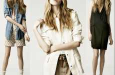 Structured Bohemian Fashions - The Zara Summer 2010 Collection is Crisp and Cool