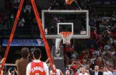 Death-Defying Slam Dunks - Milwaukee Bucks Mascot Ladder Dunk is Unbelievable