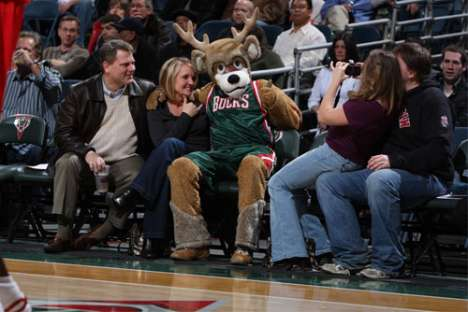 Bucks Mascot Ladder Dunk