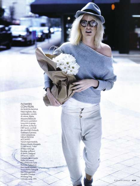 Urban Geek Fashion - Caroline Wingberg Runs Around the City for Elle Italia April 2010