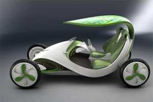 The Leaf Car Gets Power from its Roof
