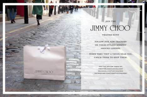 Luxury Shoe Games - The Jimmy Choo Trainer Hunt Uses Social Media Tool Foursquare