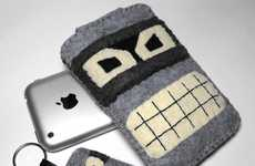 Bender iPhone Case & Keychain by NOKOMOMO Features the Beloved Bot