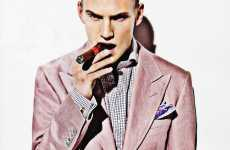 Rose-Hued Smoking Jackets