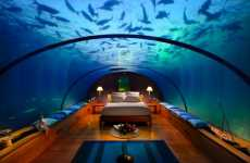 Hilton Maldives Turns Restaurant into an Underwater Hotel Room