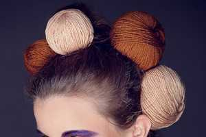 'Balls' from Tima Sergeev is the Future of Women's Hair/Knitting