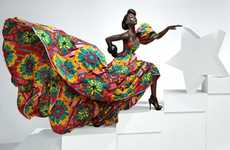 Dramatic African Fabrics - The Vlisco May 2010 Campaign is Lavish