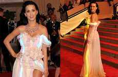 Red Carpet LED Gowns - Katy Perry Light Dress at the Costume Institute Gala