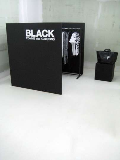 black comme des garcons pop up store
