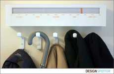 Wireless Clothes Hangers - The Coat Rack's Barometric Display Picks Out Weather-Appropriate Coats
