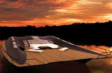 Futuristic Decked-Out Houseboats