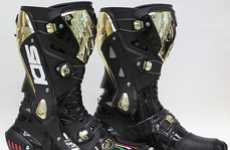 Golden Riding Boots