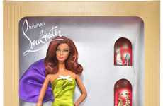 Designer Clothed Barbies - Christian Louboutin Designs Anemone Barbie Full of Hollywood Glamour