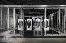 Pop-Up Menswear Installations - See the Creative Alfred Dunhill Winter 2010 Collection