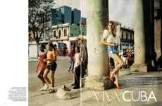 Cuban Culture Fashiontography - For 'Viva Cuba' in Vogue UK , Angela Lindvall is a Vixen