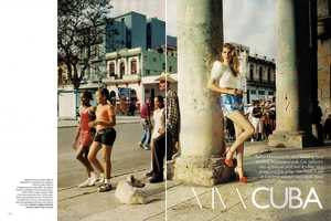 For 'Viva Cuba' in Vogue UK June 2010, Angela Lindvall is a Vixen