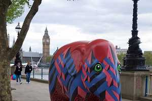 The Elephant Parade Colorfully Raises Awareness for Endangered Elephants