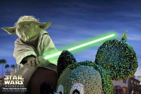 Amusement Park Takeover Ads - Say Hello to Disney Hollywood Studios' Star Wars Weekends