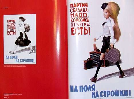 Juxtaposed Dolltography - The Hair's How Soviet Barbie Makeover is Modernized