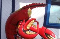 Crustacean Action Heroes - The Iron Man Lobster Suit is the Strangest Pop Culture Mashup Ever