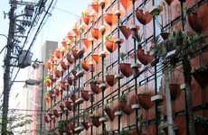 Potted Plant Buildings - The Organic Building by Gaetano Pesce Features an Eclectic Vertical Garden