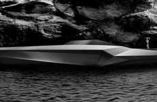 Stealthy Eco Yachts - The Bamboo CUT Green Yacht by Christian Peetz is Fit for James Bond