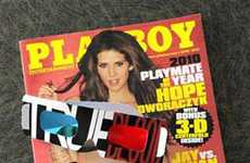 Naughty 3D Centerfolds - Hugh Hefner Goes Futuristic with the 3D Playboy Centerfold