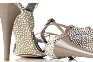 25 Super-Sparkly Shoes - From Swarovski-Covered Pumps to Bedazzled Sneakers