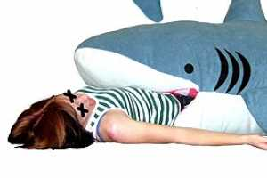The Shark Sleeping Bag is Toothy and Comfortable