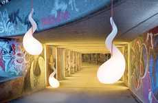 Slithering Light Fixtures
