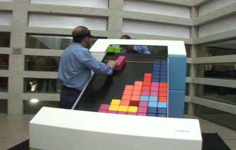 real life analog version of tetris