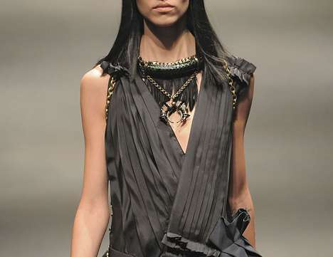 Luxe Tribal Neckware - Lanvin FW10 Collection Features Heavily Embellished Neck Pieces
